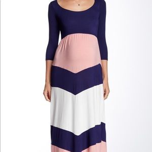 Pinkblush Maternity Chevron Skirt Maxi Dress